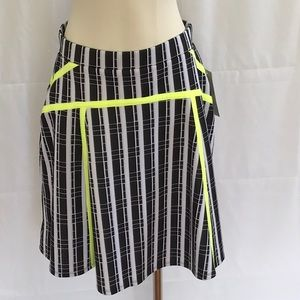 NWT Black & White Plaid A-Line Skirt